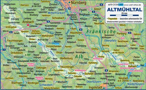 karte von altmuehltal deutschland bayern bayern