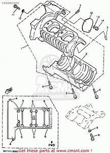 Yamaha Et400trn Enticer 1989 Crankcase