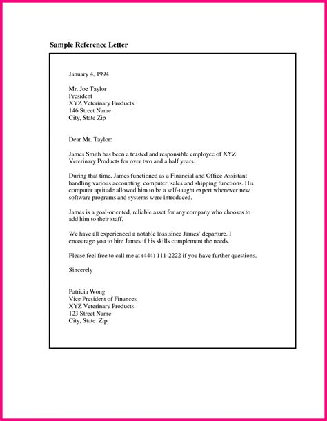 template letter writing a letter of recommendation template sle