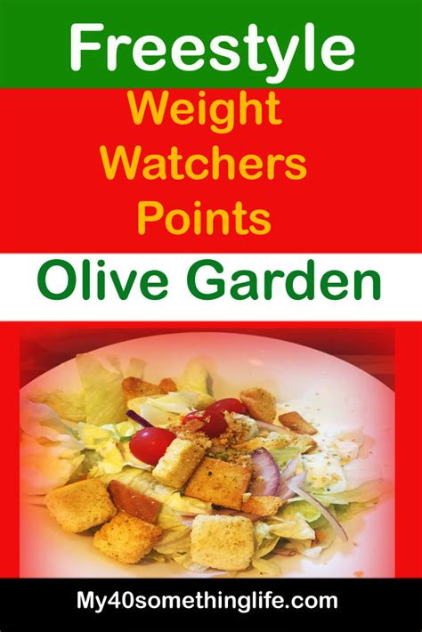 Get your fix at moe's southwest grill, california pizza kitchen, olive garden & many more! Weight Watchers Freestyle Points for olive garden — My ...