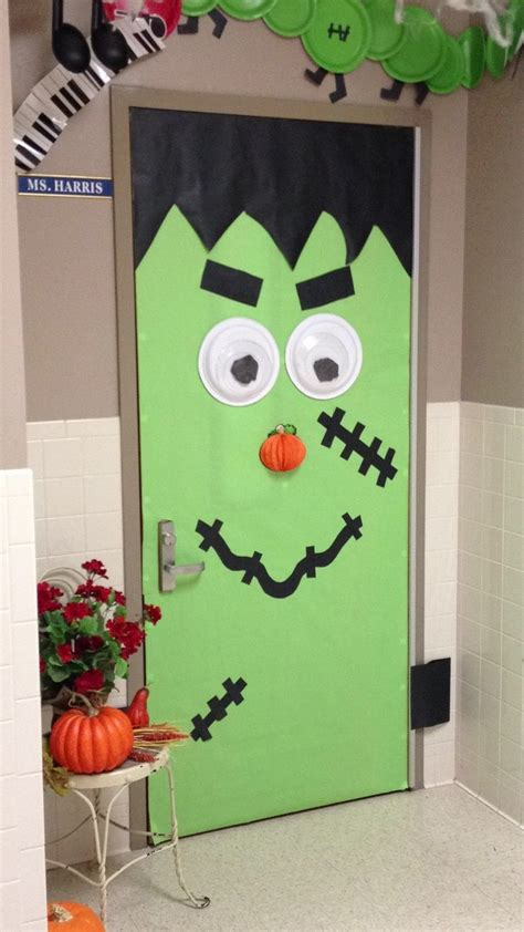 crafts actvities and worksheets for preschool toddler and 198 | frankenstein halloween door decorations