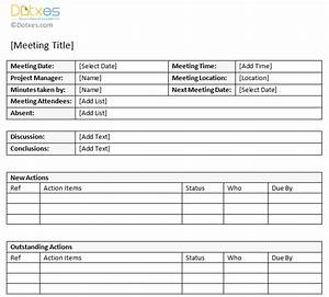 minutes of meeting sample with action item list dotxes With action item register template