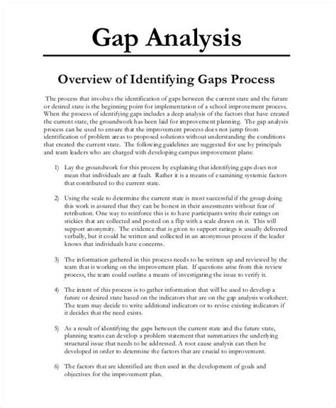 Free Printable Resume Wizard by Gap Analysis Templates 14 Free Printable Word Excel