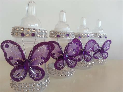 butterfly baby shower favors 12 purple fillable butterfly bottles baby shower favors