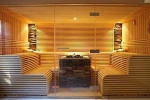 Sauna Mit Glasfront : sauna mit 3 teiliger glasfront erdmann sauna ~ Orissabook.com Haus und Dekorationen