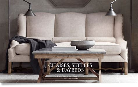 settees and chaises chaises settees daybeds rh