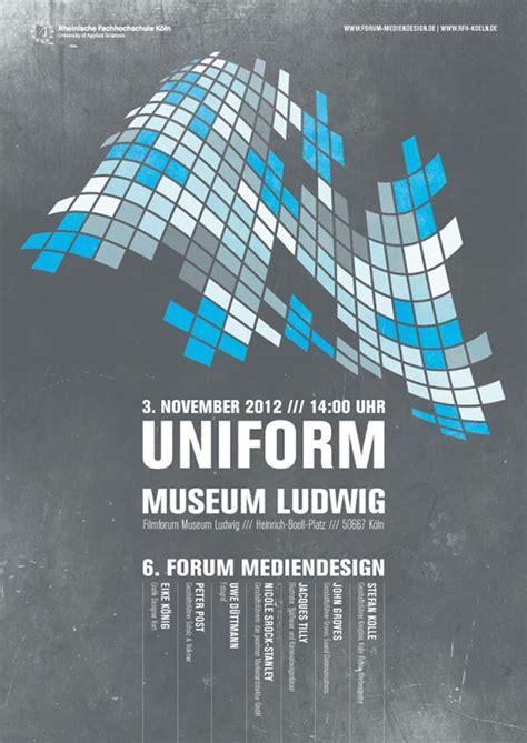 uniform poster design  leekdesign