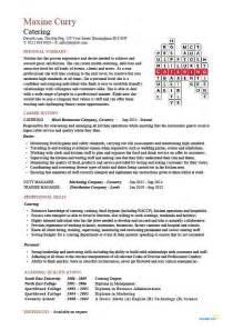 catering staff description for resume catering manager cv template food preparation description career advice exle cvs
