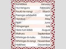 Maori Months of the Year Kiwi Kids News
