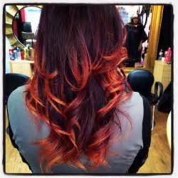 Dark Cherry Red Ombre Hair