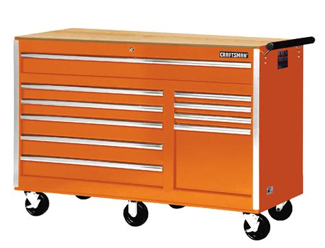 Craftsman 56 10 Drawer Rolling Cabinet With Hard Wood Top