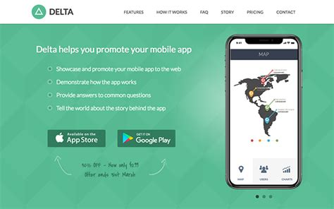 responsive bootstrap theme  mobile apps delta