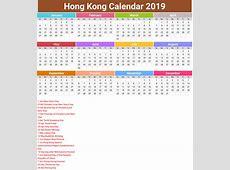 Hong Kong Calendar 2019 with holidays printcalendarxyz