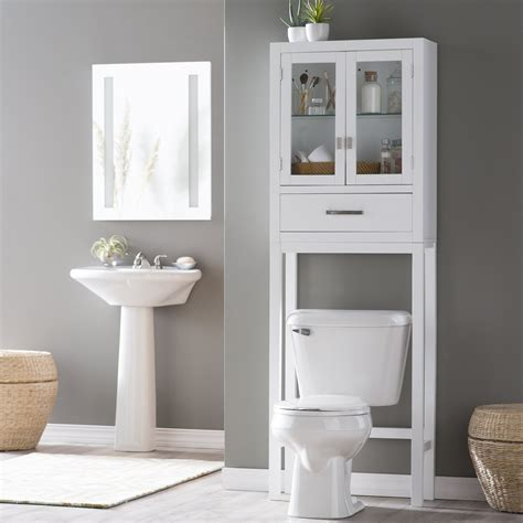 one shelf the toilet tank white rattan plastic