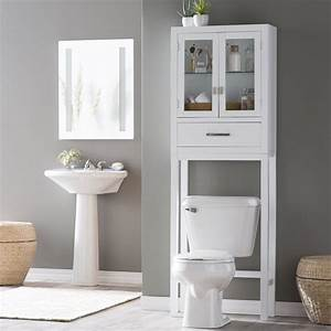 Belham living longbourn over the toilet space saver with for Space savers for bathroom