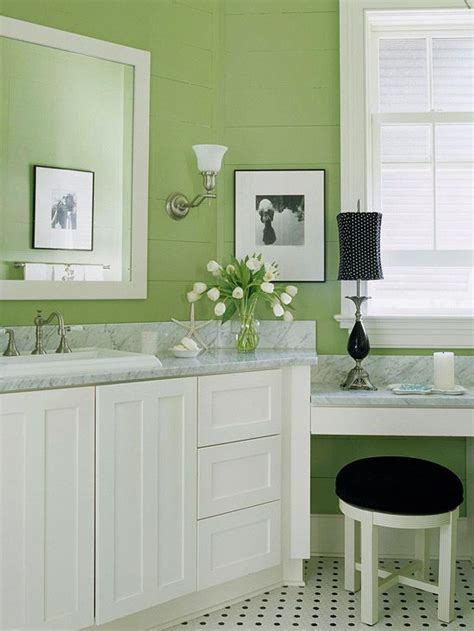 freshen your bathroom with low cost updates green colors