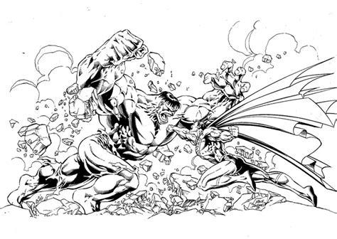 coloring batman  superman   clip art