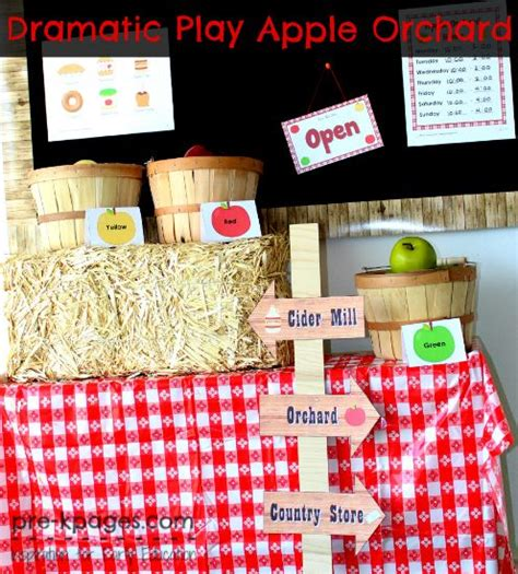 dramatic play apple orchard dramatic play center in