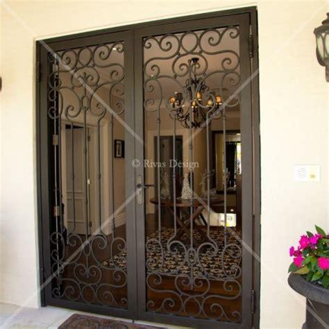 wrought iron security doors wrought iron security doors rivas design
