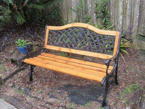this is a cast iron bench that i refurbished i installed