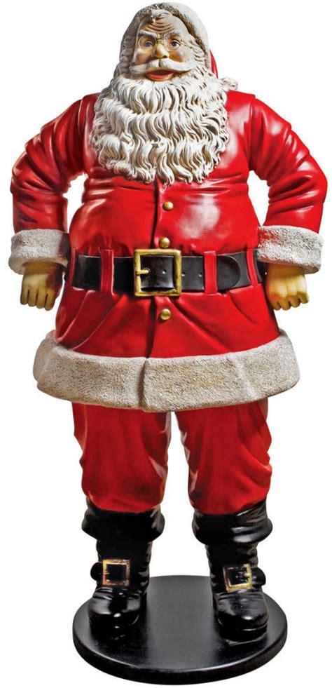 christmas jolly santa claus life size statue