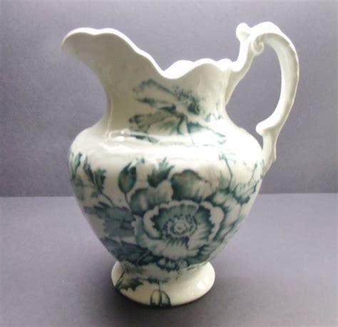 antique vintage colonial pottery stoke england genoa blue