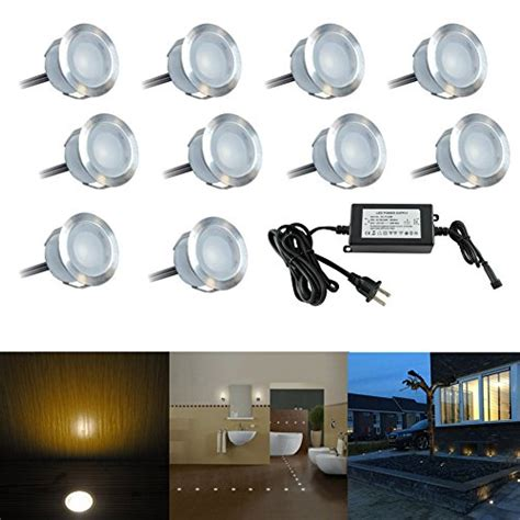 low voltage warm white in ground lights led deck light kit