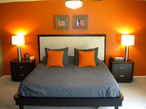 my orange and grey bed room on orange bedrooms orange and orange bedroom decor