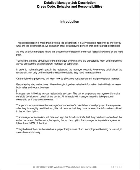 Kitchen Manager Work Description by The Restaurant Manager Description Workplace Wizards
