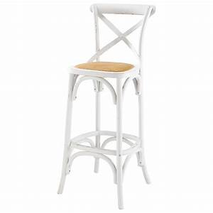 Chaise De Bar Bois : chaise de bar en rotin et bois blanc tradition maisons ~ Dailycaller-alerts.com Idées de Décoration