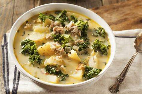 Olive Garden Sausage Soup - copycat olive garden zuppa toscana the country cook