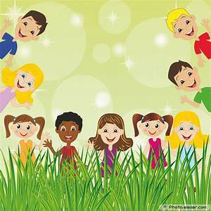 Little child on green background for design | kids ...