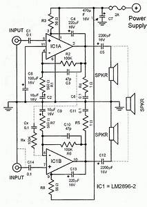 Lm2896 Car Audio Amplifier Circuit