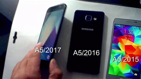 samsung galaxy a5 2017 vs a5 2016 vs a5 2015