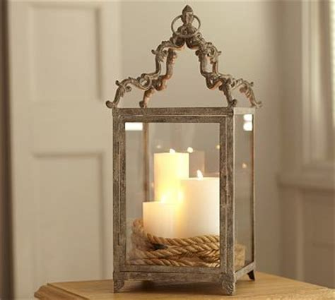 calhoun metal lantern large traditional candleholders