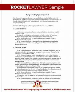 temporary employment contract agreement template with With permanent contract of employment template