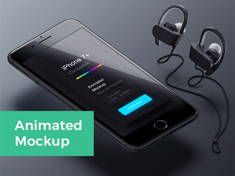 Animated Wallpaper Iphone 7 - animated iphone 7 mockup mockupworld