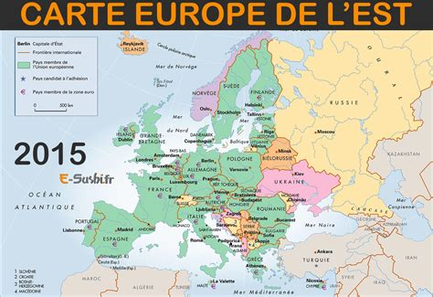 Carte Europe Centrale Et De L Est by Pays Europe De Lest