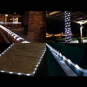 Solar Christmas String Lights Le 33ft 100 Led Solar Power Rope Lights Waterproof