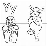 Yeti Coloring Pages Yak Alphabet Yoga Letter Yoghurt Letters Printable Coloringpages4u Fun Uu Sheets Zz Print Coloringpages Colouring Abc Animals sketch template