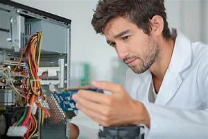 Fixing A Circuit Unit Stock Image  Image Of Profession