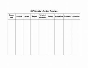 sample of literature review outline apa With lit review template