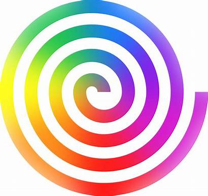 Spiral Clipart Colorful Rainbow Clipartmag Designs