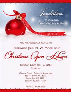 Christmas Open House Invitation Template