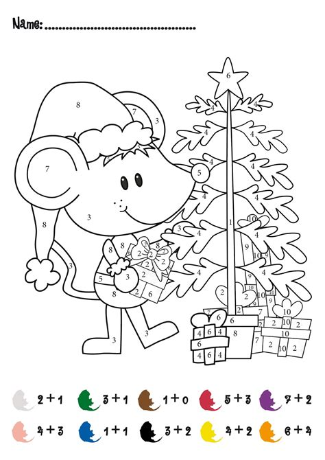 Coloring By Numbers by Color By Number Addition Best Coloring Pages For