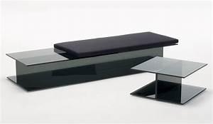 Coussin D Assise Pour Banc : coussin d 39 assise pour banc et dormeuse i beam 60 x 60 cm noir glas italia ~ Melissatoandfro.com Idées de Décoration