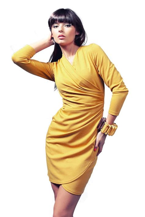 Rebeka dress in honey - Vera Fashion