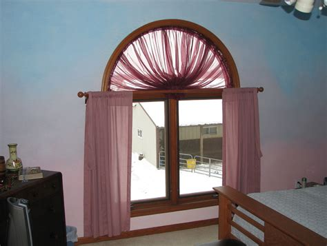 curtains  arched window home design ideas