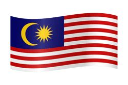Malaysia flag vector - country flags