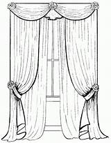 Coloring Curtain Pages sketch template